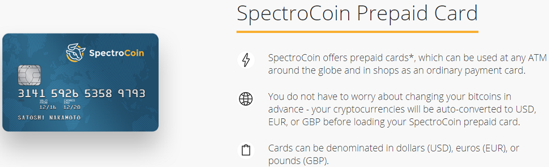 Spectrocoin Debit Card Review
